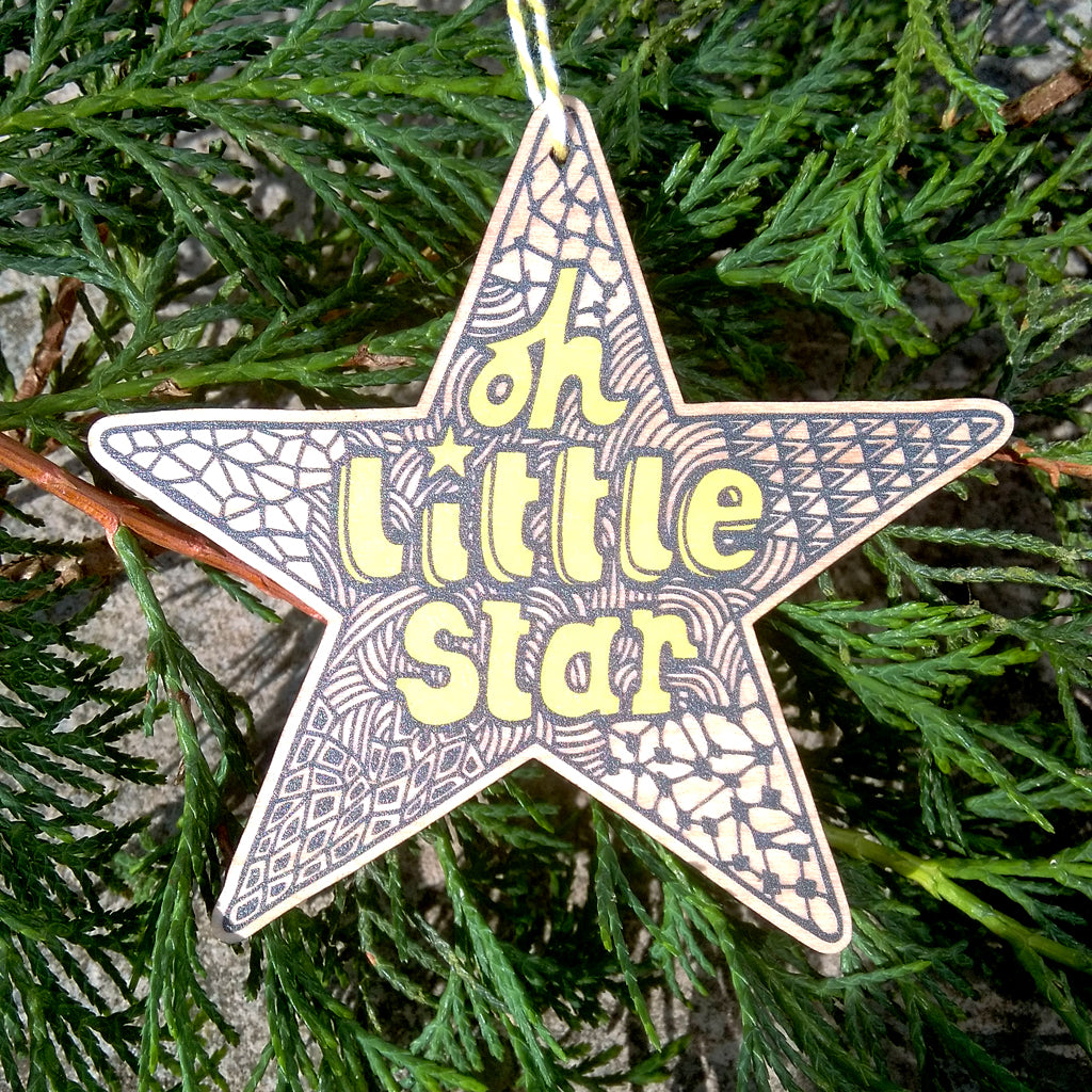Oh Little Star wooden decoration