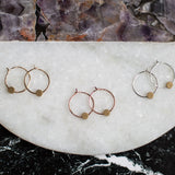 small circle brass hoop