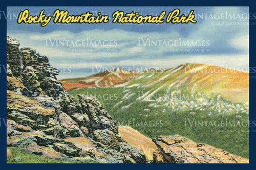 Rocky Mountain Postcard 1935 - 25
