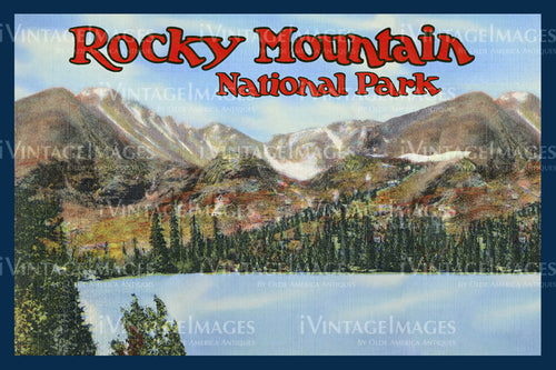 Rocky Mountain Postcard 1935 - 29