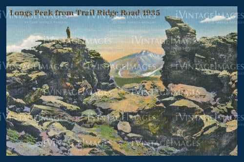 Rocky Mountain Postcard 1935 - 32
