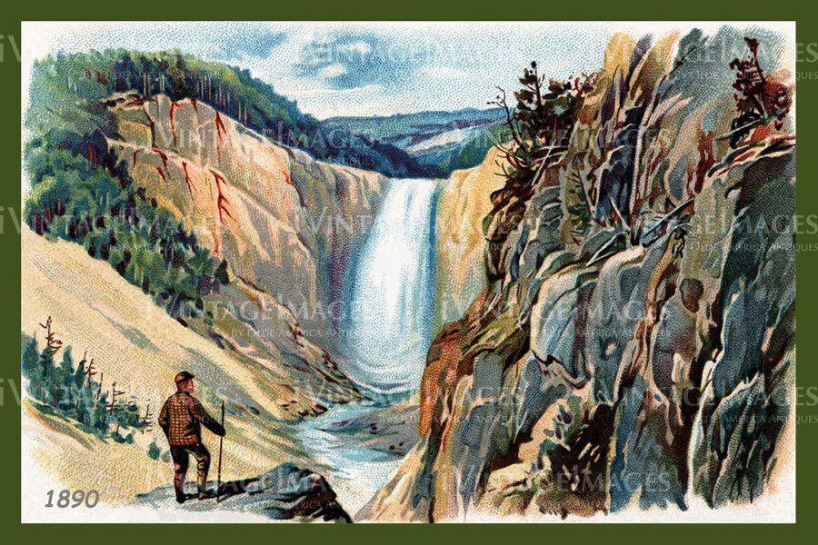 Yellowstone Trade Card 1890 - 34