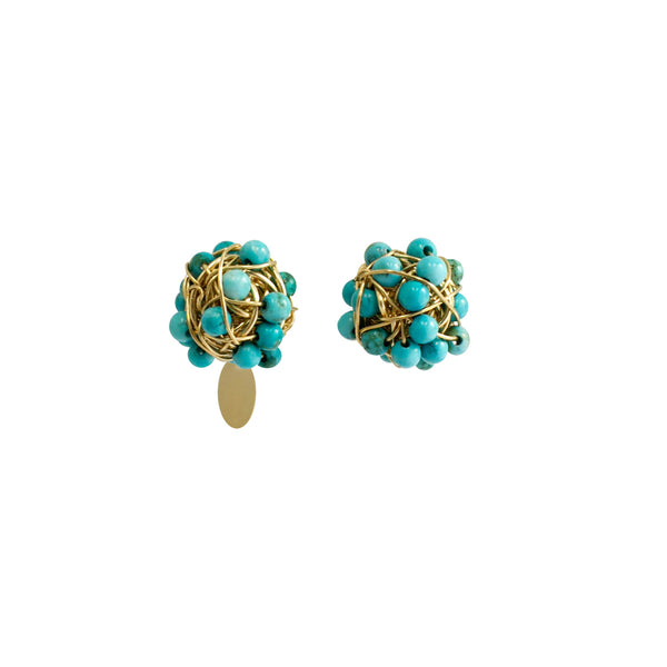 Clementina 09mm Turquoise Earring