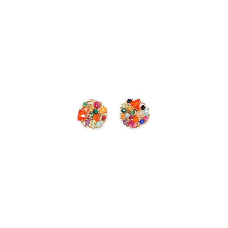 Aura  10mm Arcoiris Earring