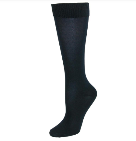 Jeffries Navy Seamless Knee Highs