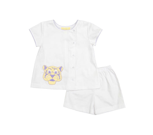 Geaux, Petit Tigre Boy Apron/Short Set