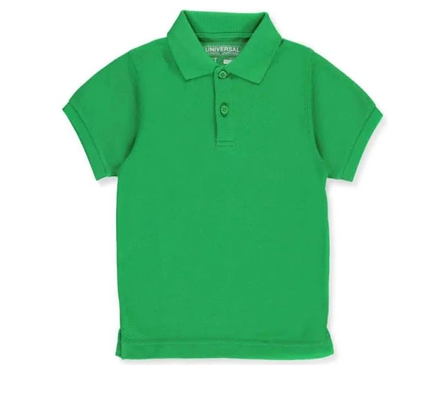 Universal Solid Polo Shirt Kelly Green