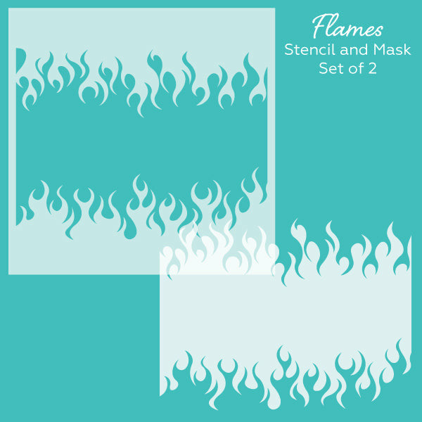 Flames | Stencil and Mask Set of 2