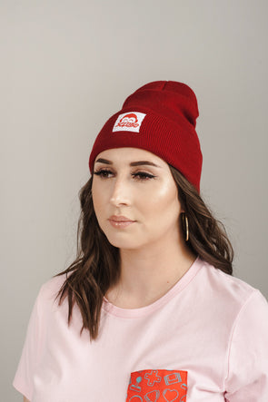 Level 1 Beanie - Cranberry