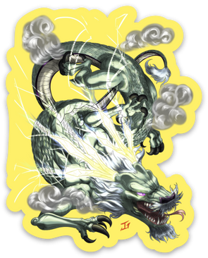 Raejin the Thunder Dragon - Sticker
