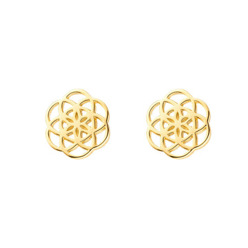 FLOWER OF LIFE gold | Ohrstecker