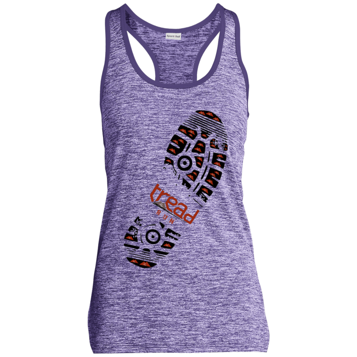 TREAD DESIGN | Footprint Ladies' Moisture Wicking Racerback Tank