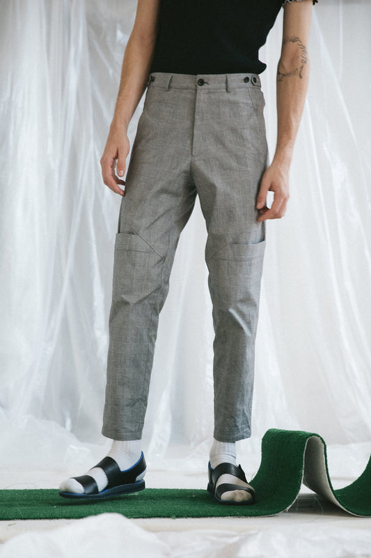 Sioux Pant - Black and White Check