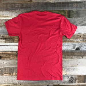 Men's The Myoming Fly Rod Tee- Red