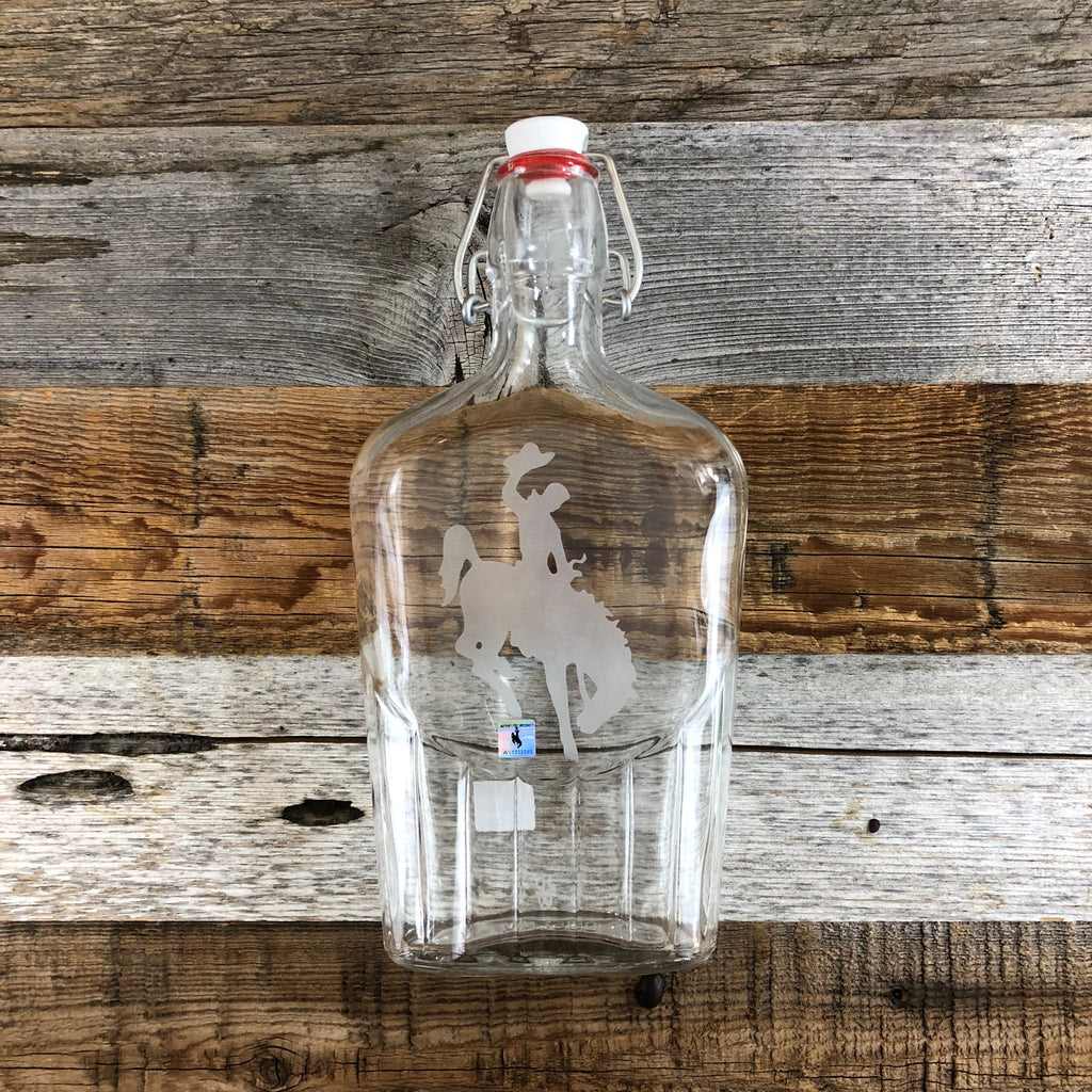 Steamboat Glass Flask