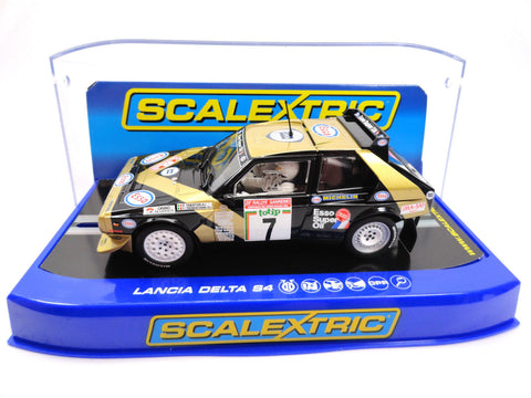 "Scalextric ""Esso"" Lancia Delta S4 DPR W/ Lights 1/32 Scale Slot Car C3490"