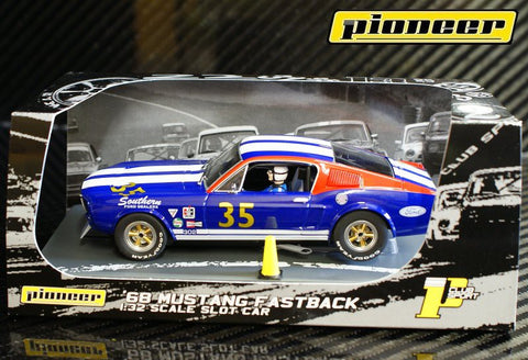 Pioneer 1968 Ford Mustang Fastback #35 - SFD Team DPR 1/32 Scale Slot Car P030