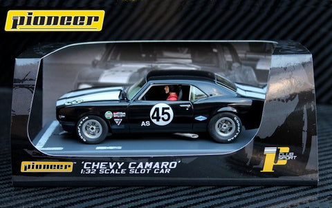 Pioneer 1968 Chevrolet Camaro Z-28 #45 Club Sport DPR 1/32 Scale Slot Car P059