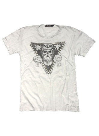Rude Riders, Crew M.C T-shirt, Star White