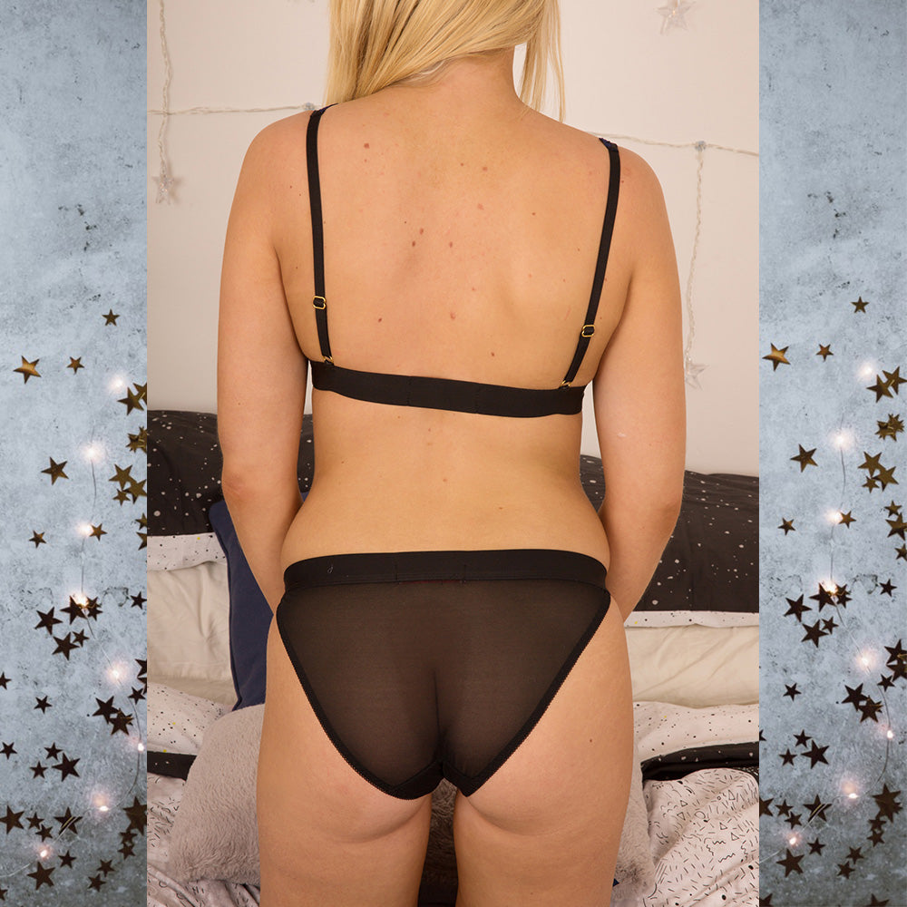 Astrid Stars System Black Knickers - Celestial Beauty Collection - More Colours - Cherrylingerie