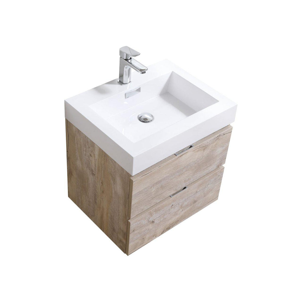 "KubeBath Bliss 24"" Nature Wood Floating Vanity - The Modern Vanity"