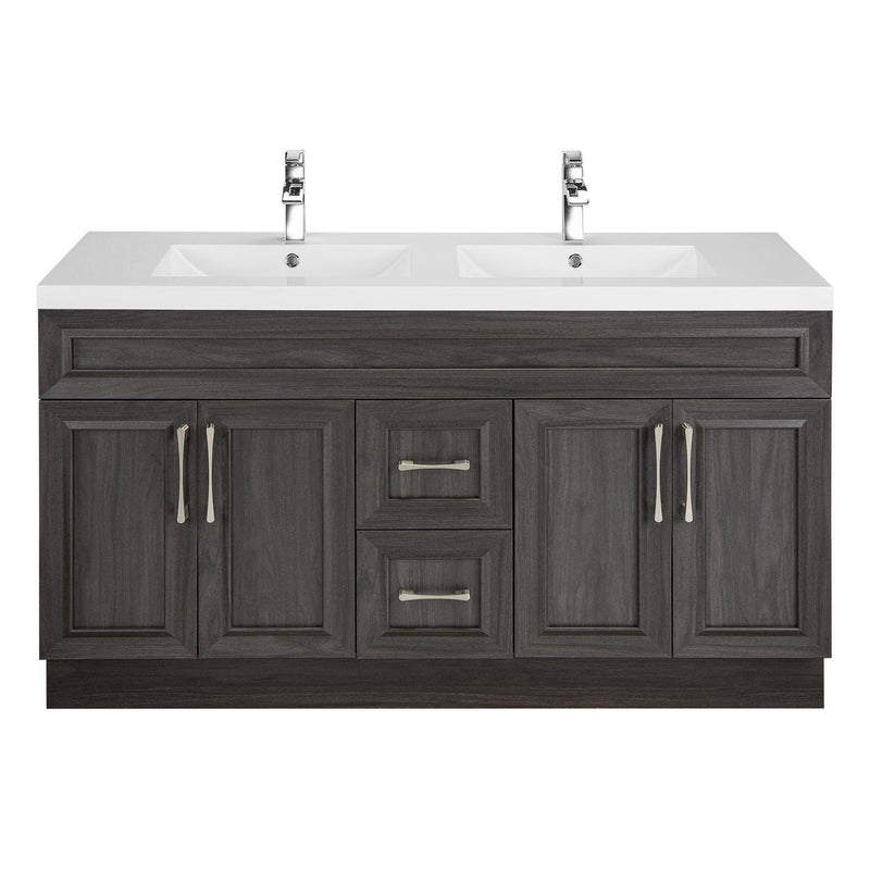 Cutler Kitchen & Bath Classic 60 in. Transitional Double Bathroom Vanity-Cutler Kitchen & Bath-Karoo Ash-themodernvanity