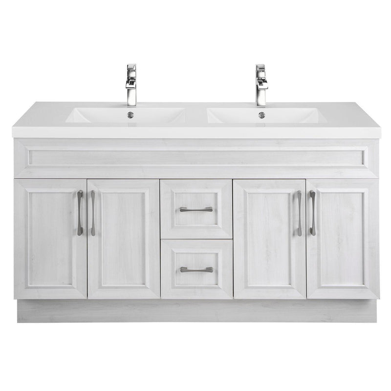 Cutler Kitchen & Bath Classic 60 in. Transitional Double Bathroom Vanity-Cutler Kitchen & Bath-Fogo Harbor-themodernvanity