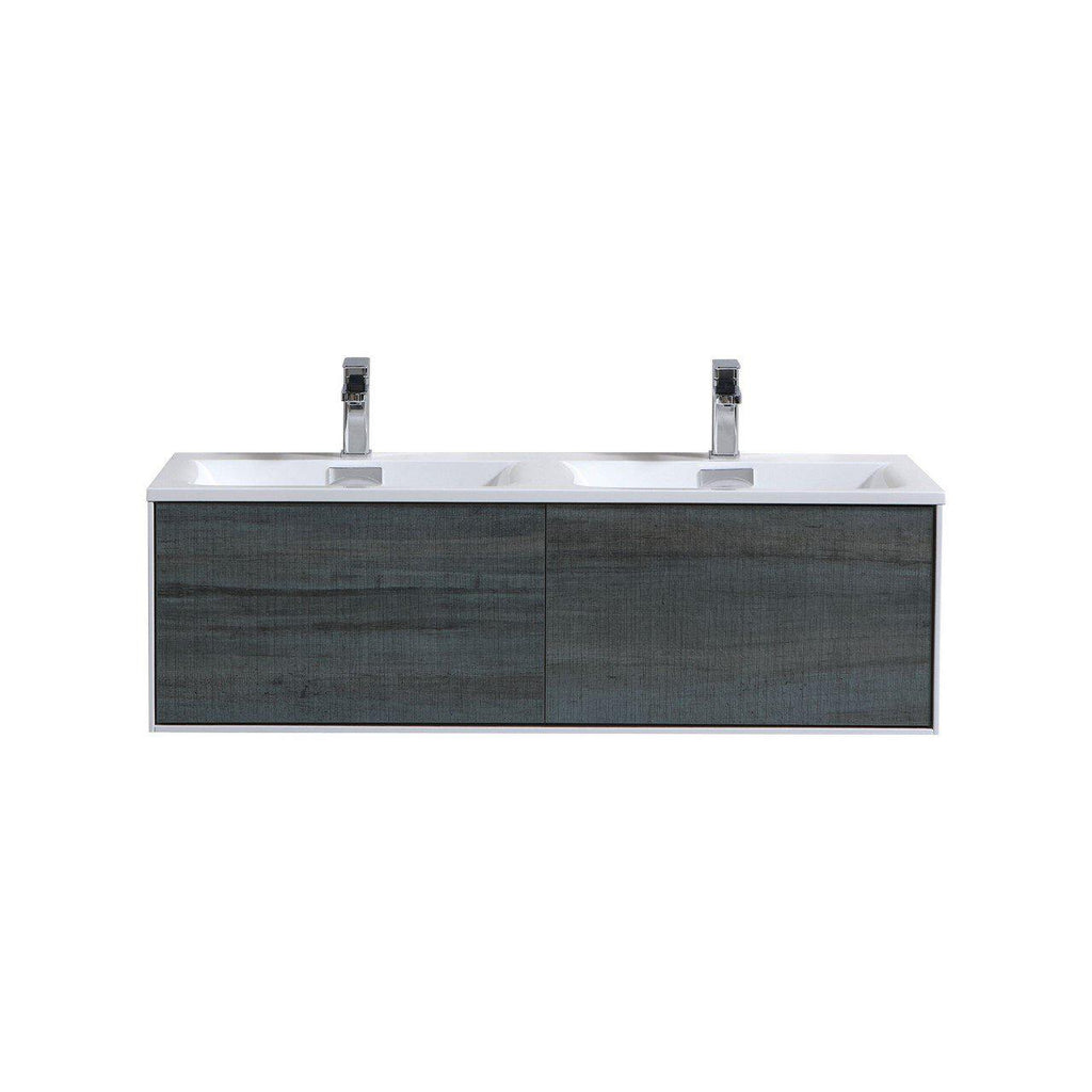 "KubeBath Divario 48"" Ocean Gray Floating Vanity - The Modern Vanity"