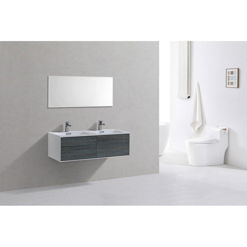 "KubeBath Divario 48"" Ocean Gray Floating Vanity"