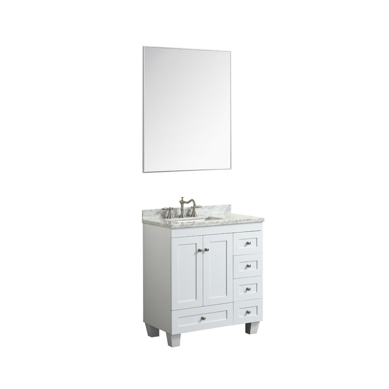 "Eviva Sax 36"" Chrome Metal Frame Bathroom Wall Mirror"