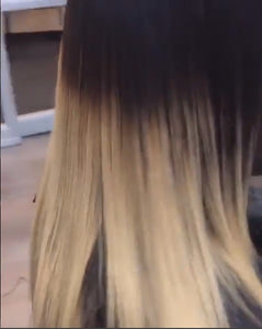 Custom Ombre Indian Hair Extensions in Ypsilanti, MI from SalonLabs Virgin Hair Extensions