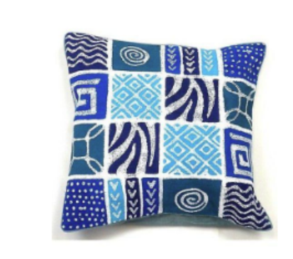 Handmade Batik pillow cover- Made in Zimbabwe - Indoor/outdoor- Support Fair Trade for Artisans - Give Back Goods