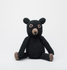 Hand Crocheted Stuffed Animal- Teddy Bear - Helps Break the Cycle of Poverty - Give Back Goods
