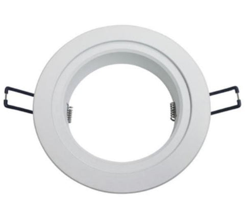 DL Series 168mm White Adaptor Ring - 13W - Integrated Power