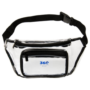 Clear Fanny Pack with Adjustable Waist Strap, Event Transparent Waist Cinch Bag, Stadium Approved Clear Bag