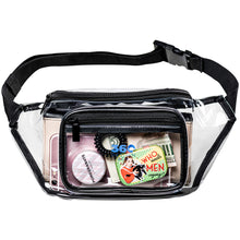 Load image into Gallery viewer, Clear Fanny Pack with Adjustable Waist Strap, Event Transparent Waist Cinch Bag, Stadium Approved Clear Bag