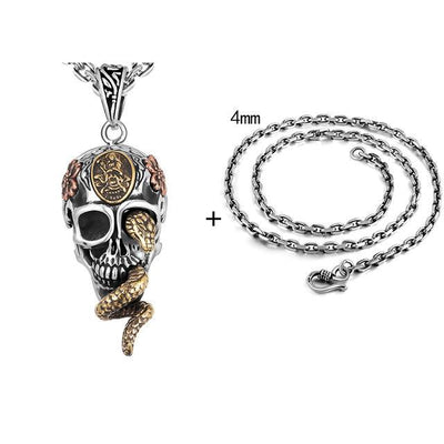 Silver Skull Pendant - ShinyGoods.store
