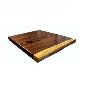 Brazilian Live Edge Walnut Restaurant Table Tops 2inch