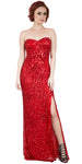 Main image of Strapless Sweetheart Sequins Long Formal Prom Dress