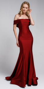 Main image of Off Shoulder Fitted Prom Gown
