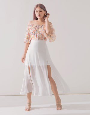Romantic Sheer Chiffon Skirt