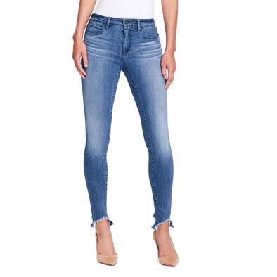Skinny Jeans Shark Bite Hem - Bleeker - front view