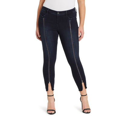 Mid-rise Skinny Ankle Jeans With Zipper - Rhodes (Plus)