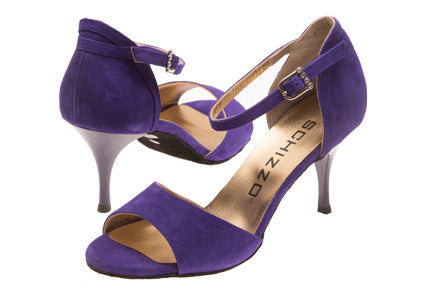 Model: Diana - Nubuck Leather, Purple