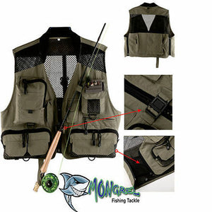 New Fly Fishing Vest Mesh Vest  Light weight Large Classic vest Trout Fishing