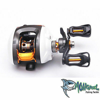 NEW WARRIOR LEFT HAND BAIT CASTER FISHING REEL BAIT CASTING REEL KAYAK FISHING