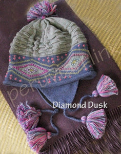 Diamond Dusk Alpaca Chullo Hat