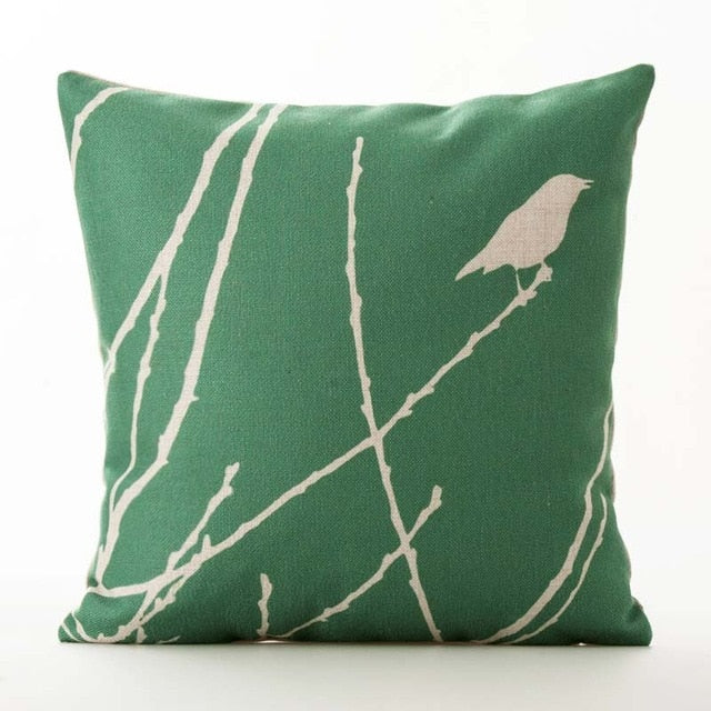 Sparrow Boho Throw Pillow Cover