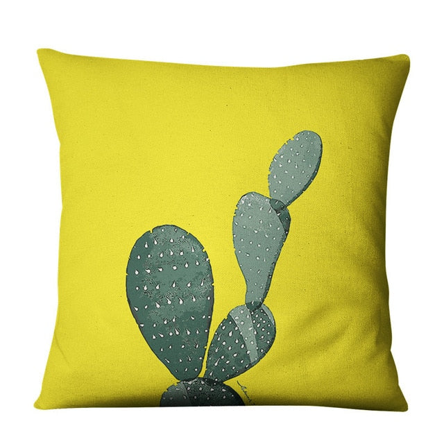 Opuntia Boho Throw Pillow Cover