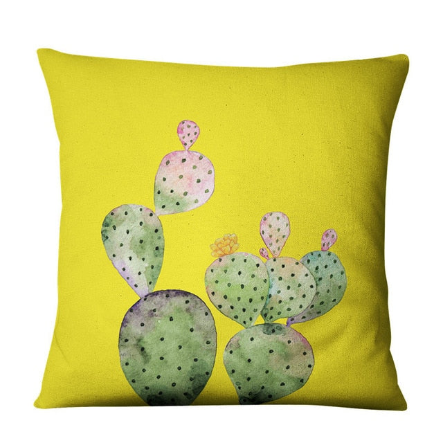 Prickly Pear Boho Throw Pillow Cover